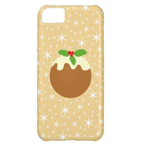 Pudín tradicional del navidad funda para iPhone 5C