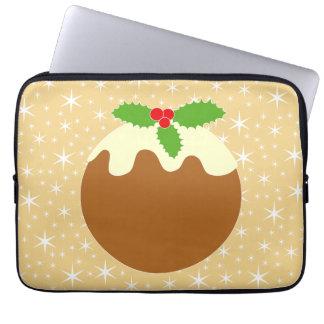 Pudín tradicional del navidad funda portátil