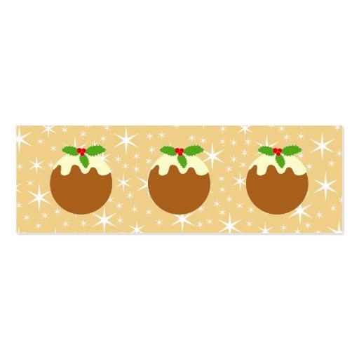 Pudín tradicional del navidad tarjetas de negocios
