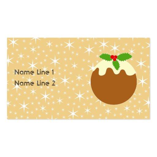 Pudín tradicional del navidad tarjetas de visita