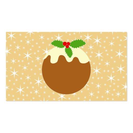 Pudín tradicional del navidad tarjeta personal