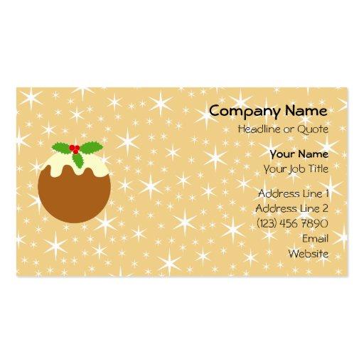 Pudín tradicional del navidad tarjetas personales