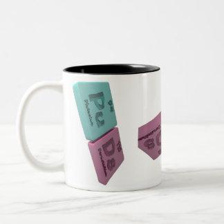 Puds as Pu Plutonium and Ds Darmstadtium Two-Tone Coffee Mug