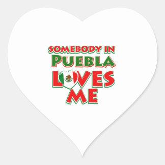 Puebla city designs heart sticker