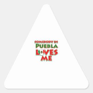 Puebla city designs triangle sticker