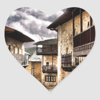 Puebla de Sanabria Heart Sticker