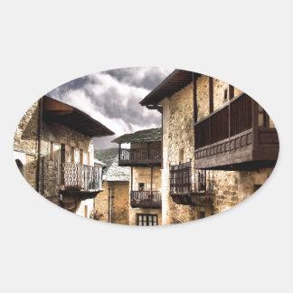 Puebla de Sanabria Oval Sticker