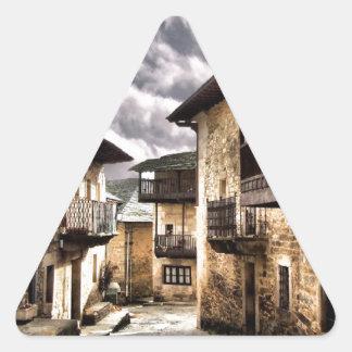 Puebla de Sanabria Triangle Sticker