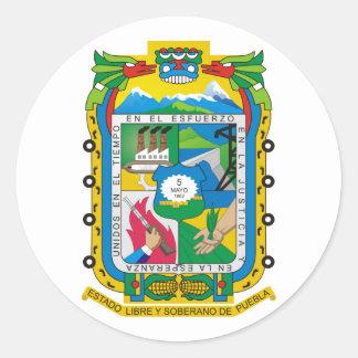 Puebla, Mexico Classic Round Sticker