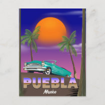 Puebla Mexico, holiday poster
