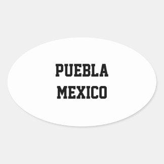 Puebla Mexico oval stickers