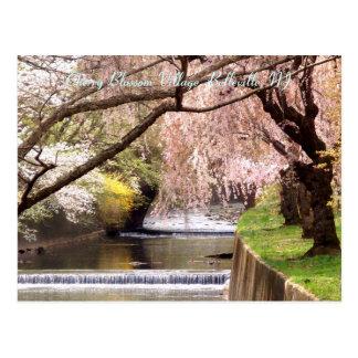 Pueblo 04 de la flor de cerezo postales