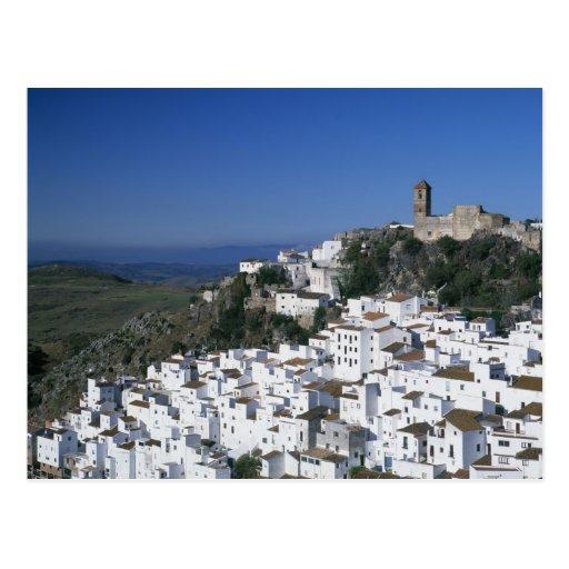 Pueblo blanco de Casares, Andalucía, España 2 Tarjeta Postal