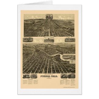 Pueblo, CO Panoramic Map - 1890  Card