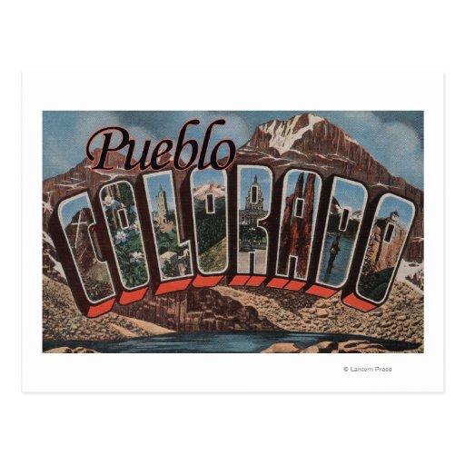Pueblo, Colorado - escenas grandes de la letra Tarjetas Postales