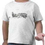 Pueblo con mercado alemán, 1704 camisetas