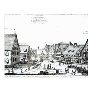 Pueblo con mercado alemán, 1704 postales