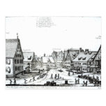 Pueblo con mercado alemán, 1704 tarjetas postales