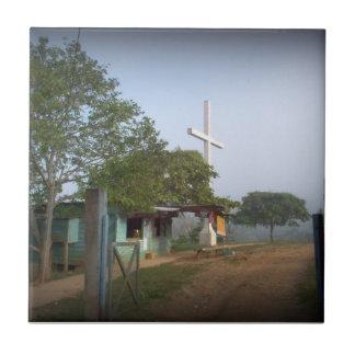 Pueblo de Borucan con la cruz Azulejos