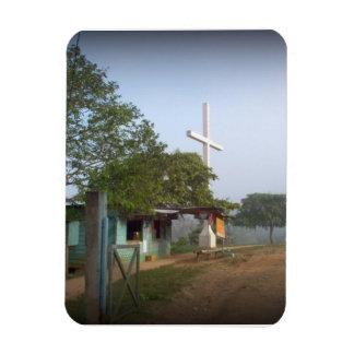 Pueblo de Borucan con la cruz Imanes Rectangulares