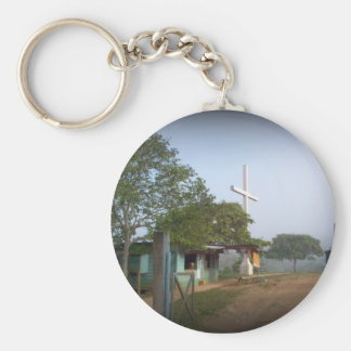 Pueblo de Borucan con la cruz Llavero Personalizado