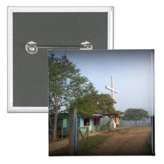 Pueblo de Borucan con la cruz Pins