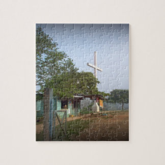 Pueblo de Borucan con la cruz Rompecabezas Con Fotos