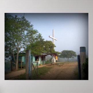 Pueblo de Borucan - la cruz Impresiones