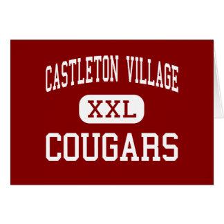 Pueblo de Castleton - pumas - joven - Castleton Felicitación