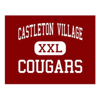 Pueblo de Castleton - pumas - joven - Castleton Tarjeta Postal