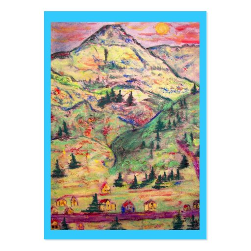 pueblo de Colorado Plantilla De Tarjeta De Negocio