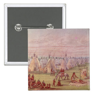 Pueblo de Comanchee Pin Cuadrada 5 Cm