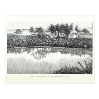 Pueblo de Ewa, Pearl Harbor, Oahu, Hawaii 1890 Tarjeta Postal