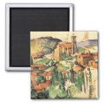 Pueblo de Gardanne Cezanne, impresionismo del Imán Cuadrado