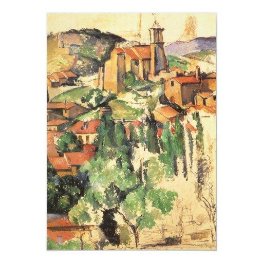 Pueblo de Gardanne Cezanne, impresionismo del Invitación 12,7 X 17,8 Cm
