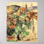 Pueblo de Gardanne Cezanne, impresionismo del Póster