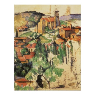 Pueblo de Gardanne de Paul Cezanne, arte del Póster