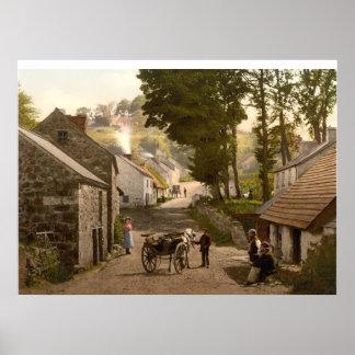 Pueblo de Glencoe, condado Antrim, Irlanda del Nor Póster
