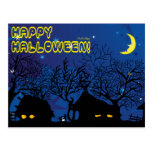 pueblo de Halloween Postales