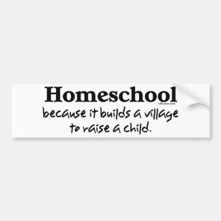 Pueblo de Homeschool Pegatina Para Auto