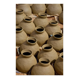 Pueblo de la cerámica, región de Ashanti, Ghana Póster