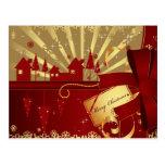 Pueblo de las Felices Navidad Postales
