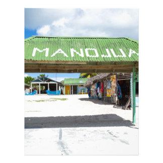Pueblo de Mano Juan en la república de Saona Membretes Personalizados