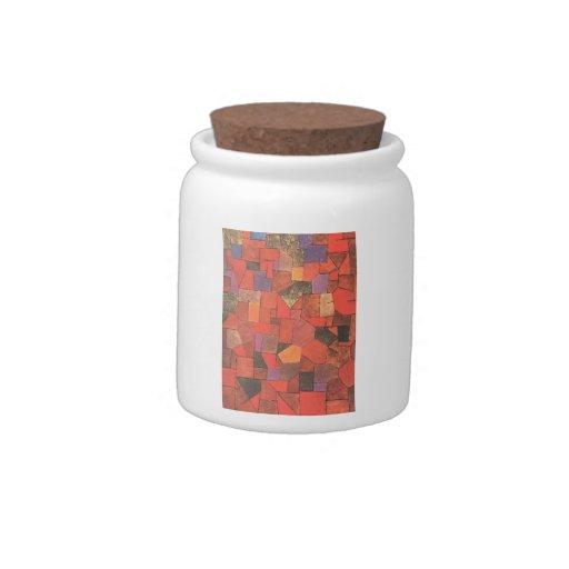 Pueblo de montaña de Paul Klee- (otoñal) Jarra Para Caramelo