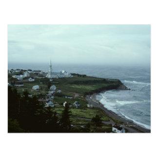 Pueblo de playa melancólico postales