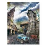Pueblo de Raro (fragmento) - postal