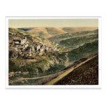 Pueblo de Siloam, Jerusalén, foto rara de la Tierr Tarjetas Postales