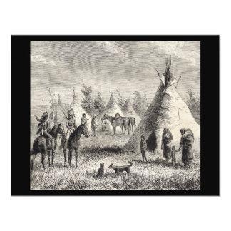 """Pueblo de Siux, circa 1876 Invitación 4.25"""" X 5.5"""""""