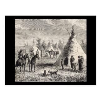 Pueblo de Siux, circa 1876 Postal