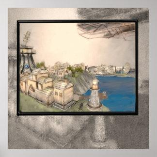 Pueblo de Steampunk Impresiones